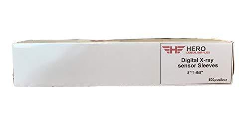 "HERO Size 2 Oral Dentistry Disposable Digital X-Ray Plastic Sensor Sleeves 1 5/8"" x 8"" Plastic Sensor Covers X-ray Sensor Protective Film Dental Material (500Pcs/Box)"