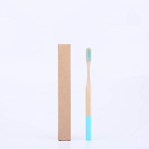 Erwachsene runden Griff Bambuszahnbürste Farbe runden Griff Original Bambuszahnbürste Bambus Holzzahnbürste Bambuszahnbürste 5 See blau