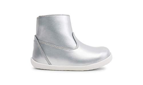Bobux Step Up Paddington Winter Boots_Premiers pas – Une Botte en cuir, doublure en laine mérinos, membrane interne imperméable à l'eau - Argent - argent, 20 EU EU