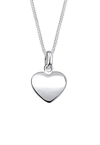 Elli Halskette Damen Herz Anhänger Filigran in 925 Sterling Silber