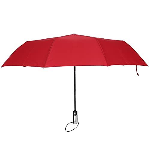 Paraguas Grande Paraguas, Artesanía Perfecta Paraguas A Prueba De Viento Totalmente Automático De Doble Propósito Para Días Soleados Y Lluviosos De Doble Propósito(vino tinto)
