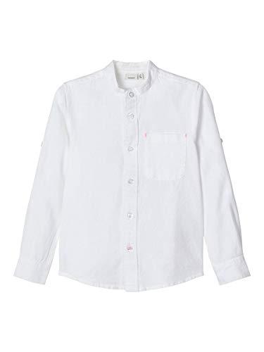 NAME IT Boy Hemd Mandarinkragen 146-152Bright White