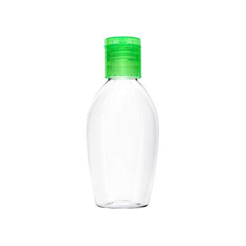 AIUIN 1 Piezas dispensadores de Desinfección Dispensador de Jabón Rellenable, Cantidad de Llenado de 50ml, Portátil Oval Dispensador de Jabón de Bomba Dispensador de Loción de Plástico