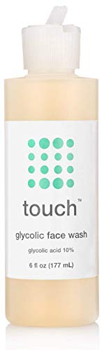 Touch - 10% Glycolic Acid Face Wash (Non Drying, Low pH, Foaming Exfoliating Cleanser)