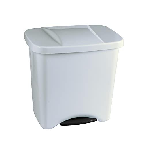 Denox 24160.050 Pedalbin Ecológico 50 litros, Blanco, 475x360x480 mm