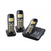 Siemens Gigaset AC265 Trio Telefon + AB schnurlos digital 40 Nummern LCD schwarz