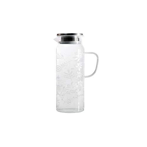 パール金属 耐熱ガラス ピッチャー 冷水筒 1.4L ジャグ ポット ステンレス蓋 熱湯消毒可能 衛生的 麦茶 お茶 ボタニカル柄 HB-5810