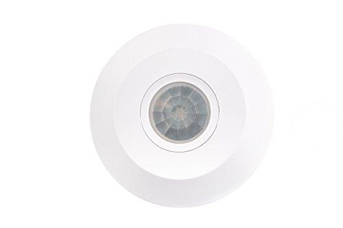 HUBER MOTION 40 REMOTE, Bewegungsmelder 360°, weiß, mit Fernbedienung zum Einstellen der Einschaltdauer und Dämmerung