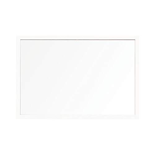 Bi-Office Ochraniacz na biurko, szklana deska z zaciskami, biała 22 mm, ramka MDF, 90 x 60 cm