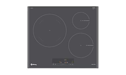 Balay 3EB965AU Placa de Inducción, Gris antracita, Zona gigante 28cm, Función Sprint, Control Deslizante