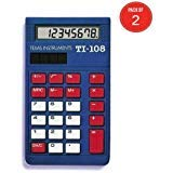 Texas Instruments TI-108 Solar Power Calculator/Teachers Kit (Pack of 2, set of 10 in each pack)