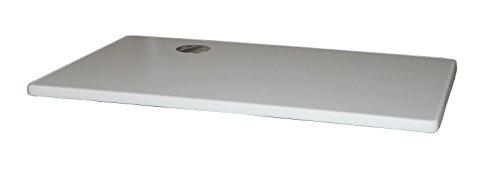 Sevelit Tischplatte, Dekor Weiß 115x70 cm rechteckig wetterfest mit Kunststoffkante Ersatztischplatte Bistrotisch Stehtisch Tisch Gastronomie