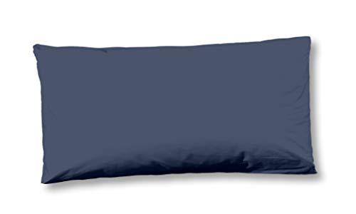 Kussensloop 40x80cm katoen jeans stitching - vintage indigo