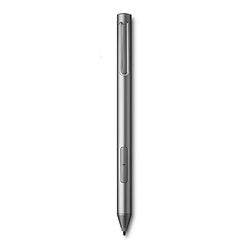 Wacom Bamboo Ink-Active Stylus (2. Generation, mit 4.096 Druckstufen zum natürlichen Schreiben und Anfertigen von Notizen auf stiftfähigen Touchscreen-Geräten mit Microsoft Windows 10) grau