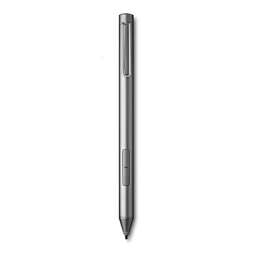 Wacom Bamboo Ink-Active Stylus (2. Generation, mit 4.096 Druckstufen zum natürlichen Schreiben & Anfertigen von Notizen auf stiftfähigen Touchscreen-Geräten mit Microsoft Windows 10) grau
