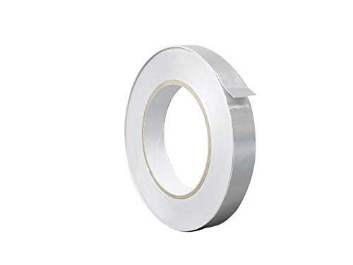 WOD AFTR28 Aluminum Tape/Aluminum Foil Tape - 0.5 inch x 150 feet (2.8 mil) Perfect for Sealing & Patching Hot and Cold HVAC, Duct, Pipe, Insulation home and commercial