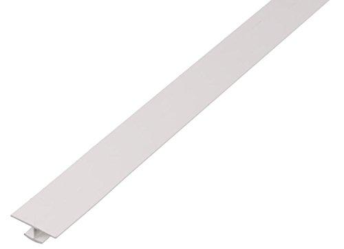 GAH-Alberts 484705 H-Profil - Kunststoff, weiß, 1000 x 25 x 6 mm