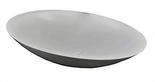SLIM - DESIGN Mineraal gegoten opzetwastafel MAW MAW2376 (60 cm) 60 x 35 x 10,5 cm