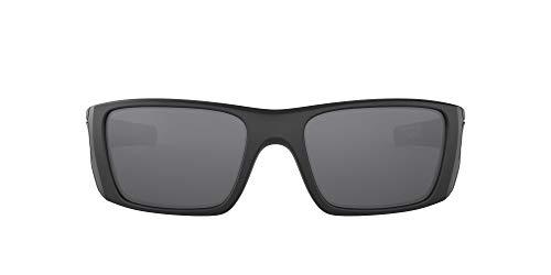 Oakley Los hombres de Pila de Combustible-polarizadas no rectangulares Iridium Gafas de sol, Si Mate Negro (acero Fl
