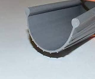Garage Door Weather Seal - Bottom Seal Bead Type - Grey Vinyl - Part Type: 20`