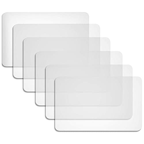 Mantel Antideslizante 6 Pieces Plastic Placemats Table Mats Heat Resistant Placemats Dining Mats for Table Dining Kitchen