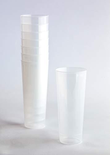 Desconocido Pack 100 Vaso Tubo Plástico Irrompible. Cap. 330ml. Vasos de plástico para cumpleaños, Fiestas, etc.- Reutilizable, Irromplible, Lavable