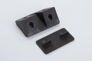 4 Stück Eckverbinder Regalverbinder Eckbeschläge Kunststoff braun 43 x 20mm