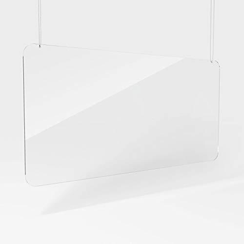 Plexiglaswand, beschermschijf, plexiglas-bescherming, plexiglas-scherm, plexiglas-beschermwand 100 x 50 cm, hangend