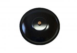 Deckel Emaille für Gulaschkessel Topfdeckel Emailledeckel 14 Liter 38 cm