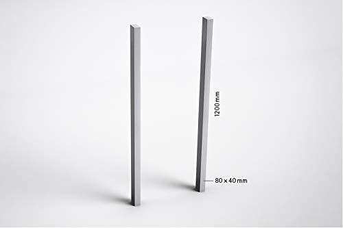 sbox 17 Briefkasten Seitliche Stützen zum Einbetonieren aus hochwertigen Aluminium, Postfach Pfosten, Weissaluminium, hergestellt in der Schweiz