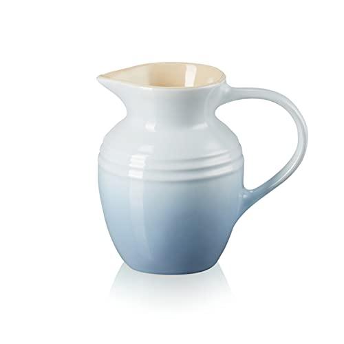 Le Creuset Jarra de desayuno de cerámica de gres, 600 ml, 550 g, Azul Coastal