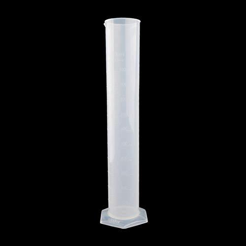 1000ml PP-Kunststoffauslauf-Abschluss-Messzylinder mit sechseckiger Basis, transparent (Color : Transparent)