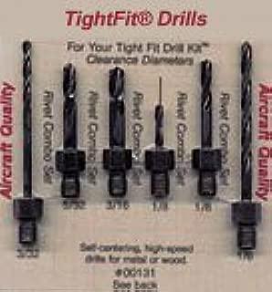 Drill Bits Short Length Threaded Shank, Combo Series Drill Bit Set 1 Tight Fit Tools 00131