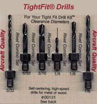 Drill Bits Short Length Threaded Shank, Combo Series Drill Bit Set 1 Tight Fit Tools 00131...