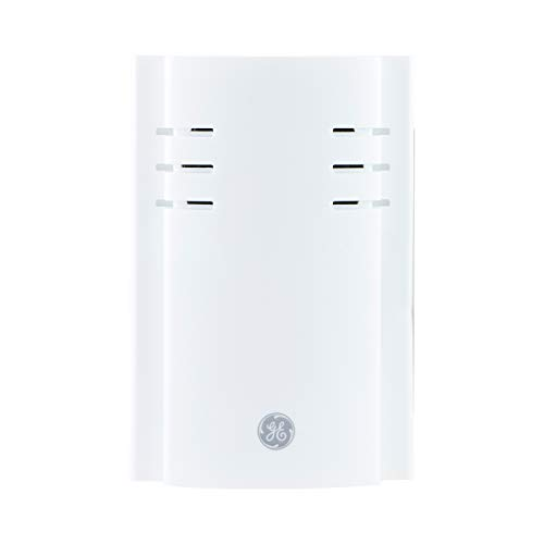 GE Wireless Doorbell Kit, Extender, Plug, 150 Ft Range, Replacement Doorbell Receiver, Adjustable Volume, 2 Melody, White, 35572