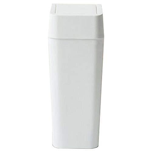 HHTX Bote de Basura de Gran Capacidad, con Tapa basculante Papelera Recipiente de plástico Reciclaje de Basura Adecuado para Dormitorio Sala de Estar Baño-9L-blanco