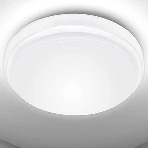 Plafón Led Techo 24W Lámpara de Techo Equivalente a 200W Resistente al Agua IP54 Blanco Frío 2200...