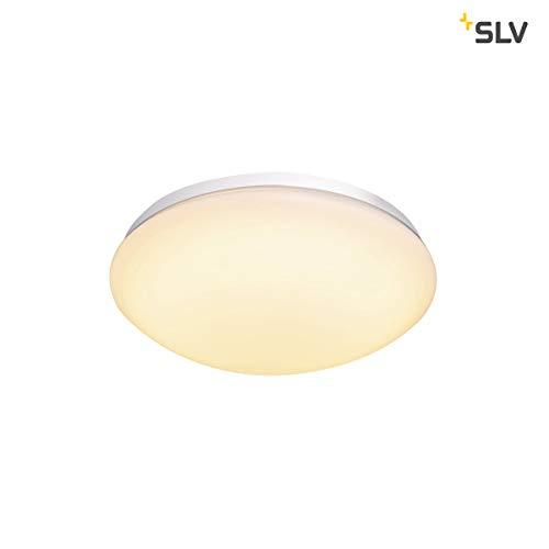 SLV Lipsy 30 Dome Applique murale d'extérieur à LED en aluminium Blanc IP44 3000/4000 K 15 W