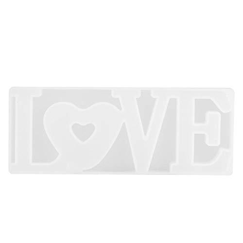 Moules de cuisson en silicone, lettre anglaise LOVE Shape Cake Chocolate Molds Outils de cuisson de cuisine pour la Saint-Valentin/anniversaire cadeau bricolage