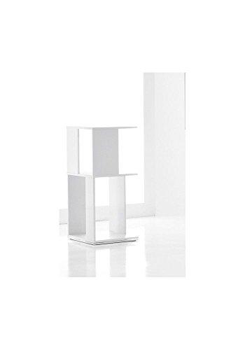 L'Aquila Design Arredamenti BONALDO Bibliothèque Cubic 2 Blanc laqué mat fixe en MDF Bureau Salon LI70