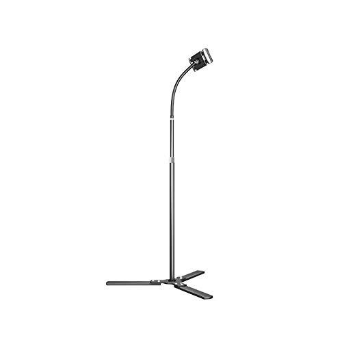 "Gaocheng Max Height 55"" for 4.7""-11"" Phones, Tablet Best for Bed&Desk&Sofa. Floor Stand for Smartphone and Tablet 360 Degree Adjustable Selfie Tripod Mount Holder Black 140cm"
