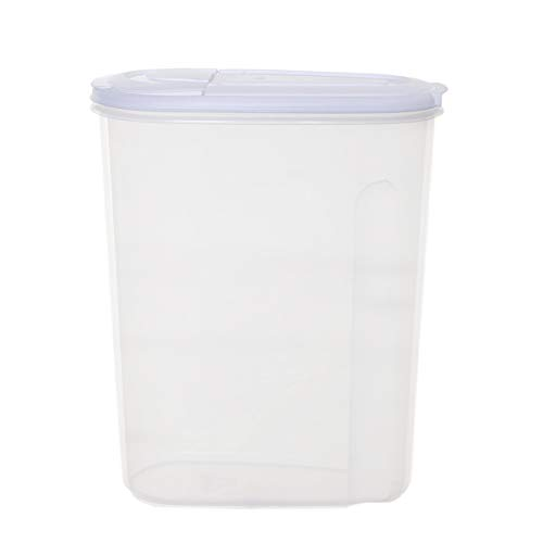 St@llion Large Dry Food Storage Containers Airtight Plastic Silver Food Storage Dispenser, Great for Cereal, Flour, Sugar, Baking Supplies Kitchen Pantry Storage Keeper (Pack of 1, 5 Litre)