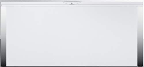 Summit Appliance EQFR221 Commercially Listed 23.8 Cu.Ft. Frost-Free Chest Refrigerator for General Purpose Applications in White with Digital Thermostat, Lock, Stainless Steel Front Corner Protectors