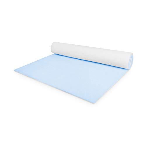 Dunstabzug Filter 1 x 2 m x 22 mm Zuschneidbare Filtermatte Universell Einsetzbar als Staubfilter und Fettfilter ISO 16890 G4