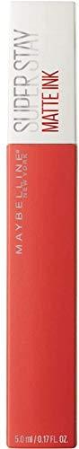 Maybelline New York SuperStay Matte Ink, Pintalabios Mate de Larga Duración, Tono 25 - Heroine, Naranja Intenso