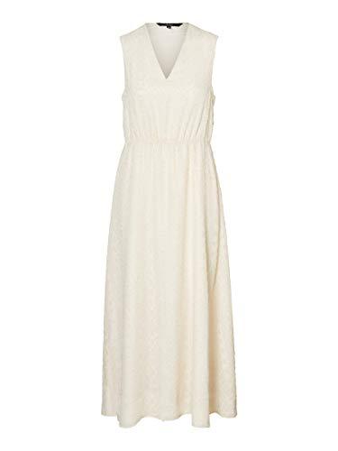 VERO MODA Damen VMLYKKE S/L Ankle Dress WVN CE Kleid, Birch, XS