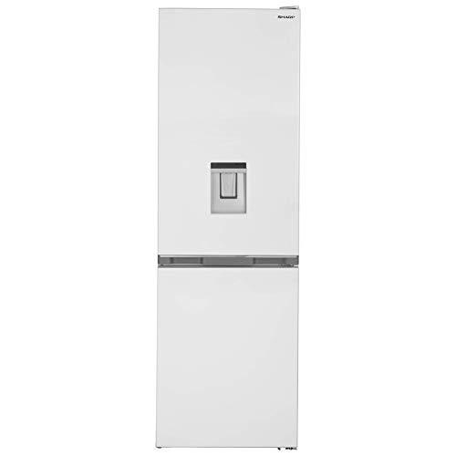Sharp SJ-BA10DMDWE-EU Kühl-Gefrier-Kombination,E,186 cm Höhe,230 L Kühlteil,101 L Gefrierteil,NoFrost,Elektronische Steuerung,Wassertank,ZeroDegreeZone,AdaptiFresh,Weiß