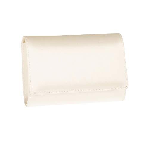 Brautclutch Clutch Brautbeutel Tasche DAFNEE von RAINBOW CLUB Creme Ivory Brauttasche Satin färbbar Ivory