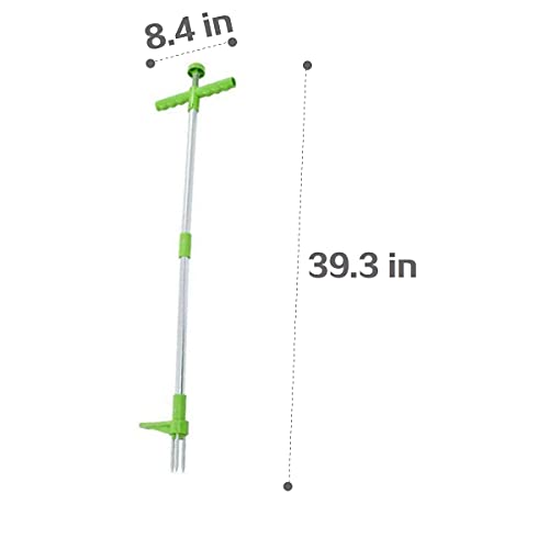 BHPEN Stand Up Weeder Root Removal Tool,Weed Puller,Grandpas Weeder,Garden Tools, 3 Stainless Steel Claws,39