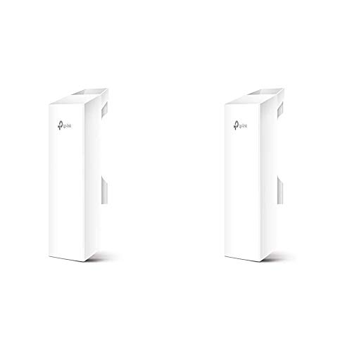 TP-LINK CPE510 - Punto de Acceso inalámbrico/CPE de Exterior a 5.0 GHz 300 Mbps 13 dBi + CPE210 - CPE de Exterior de 9dBi en 2.4GHz a 300Mbps, 5km+ Punto a Punto Transmisión Inalámbrica